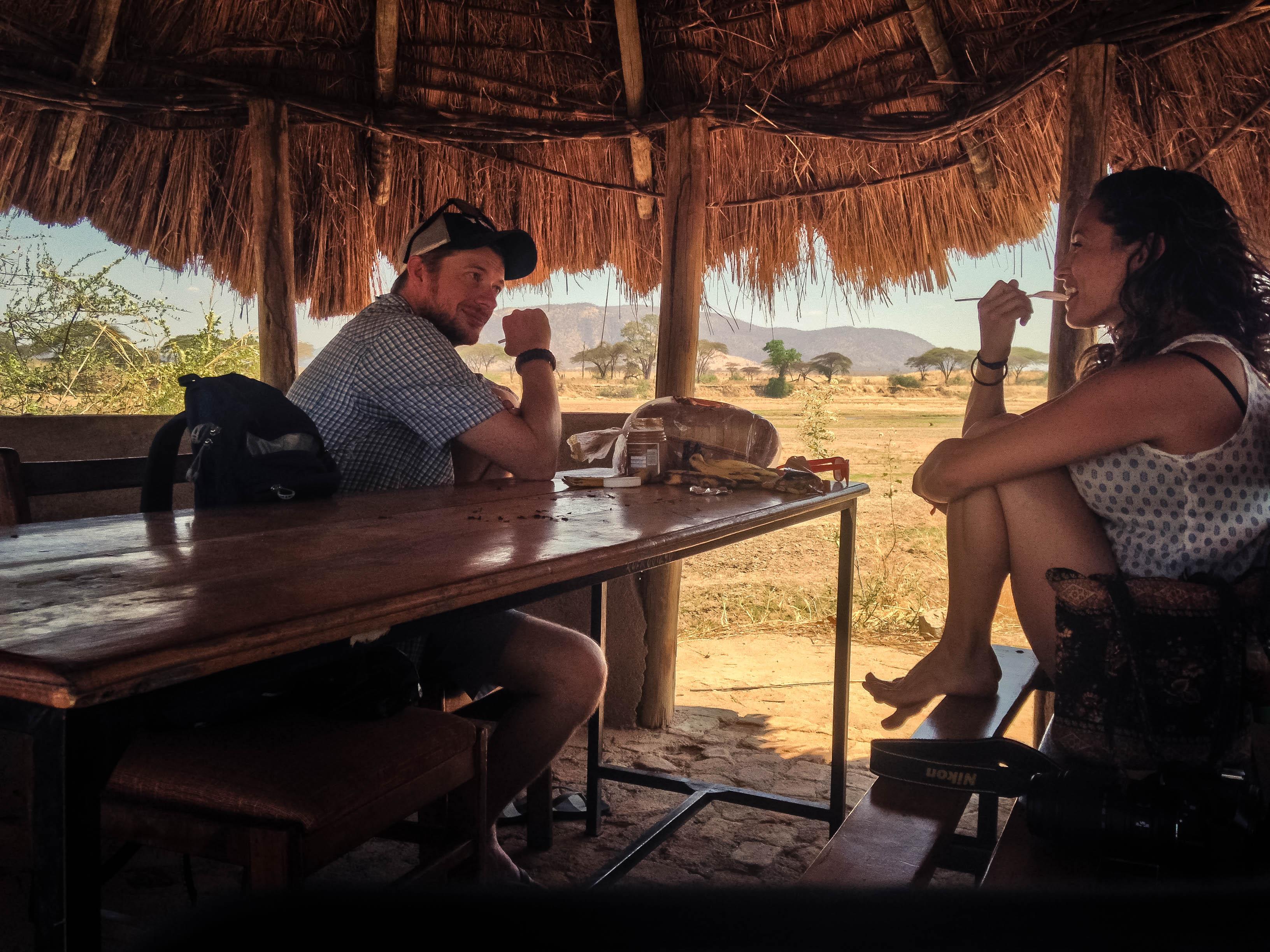 Scott and Cici on Tanzanian safari
