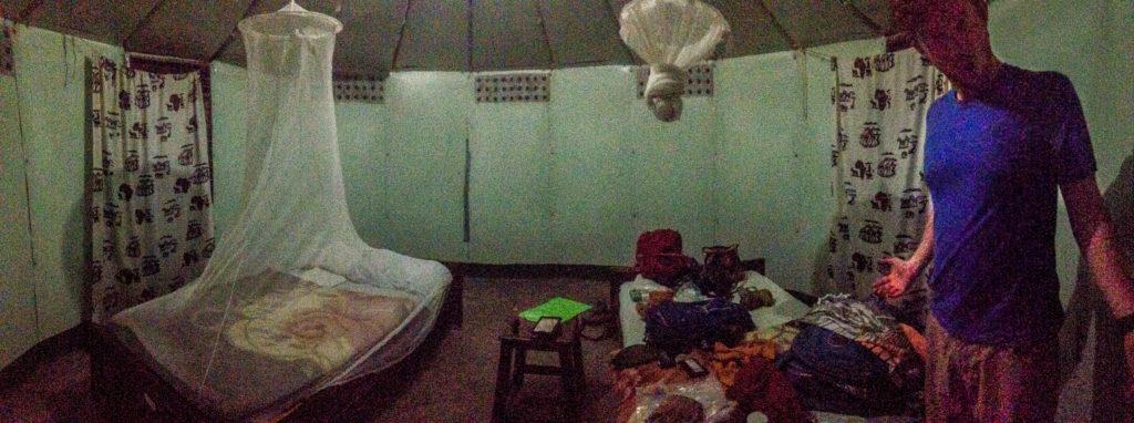 The inside of our Tanzanian Banda
