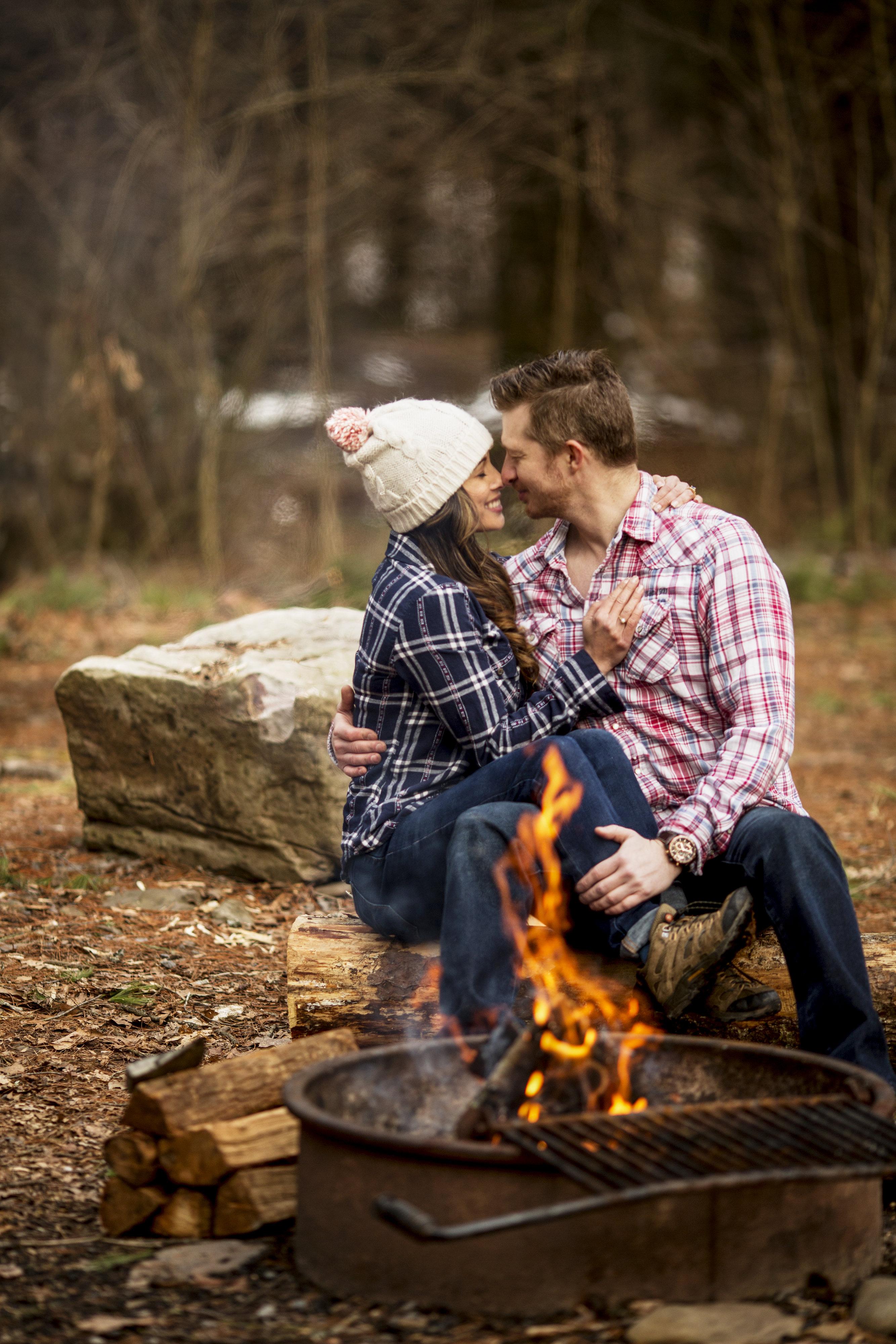 Engagement camping photoshoot
