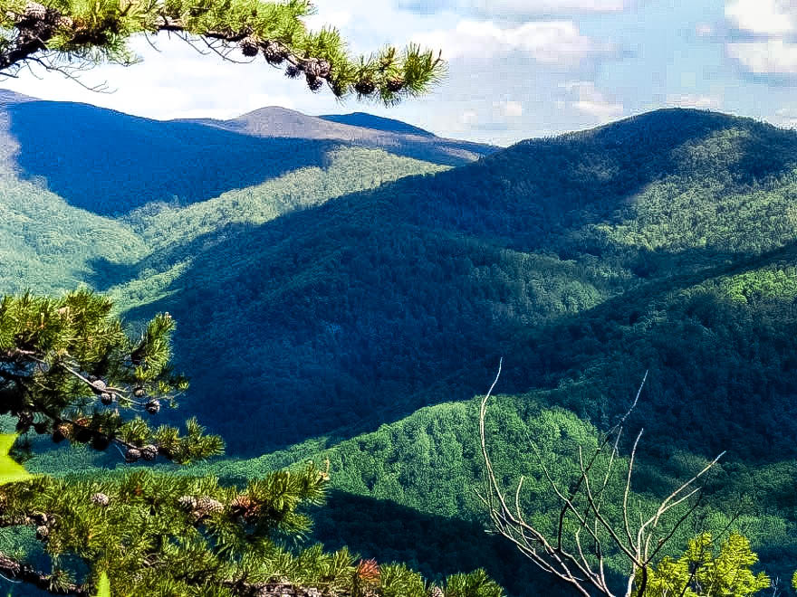 Old Rag hiking trail Shenandoah National Park