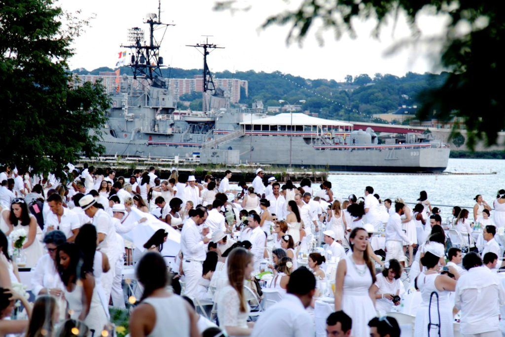 Washington DC's inaugural Dîner en Blanc in Navy Yard.