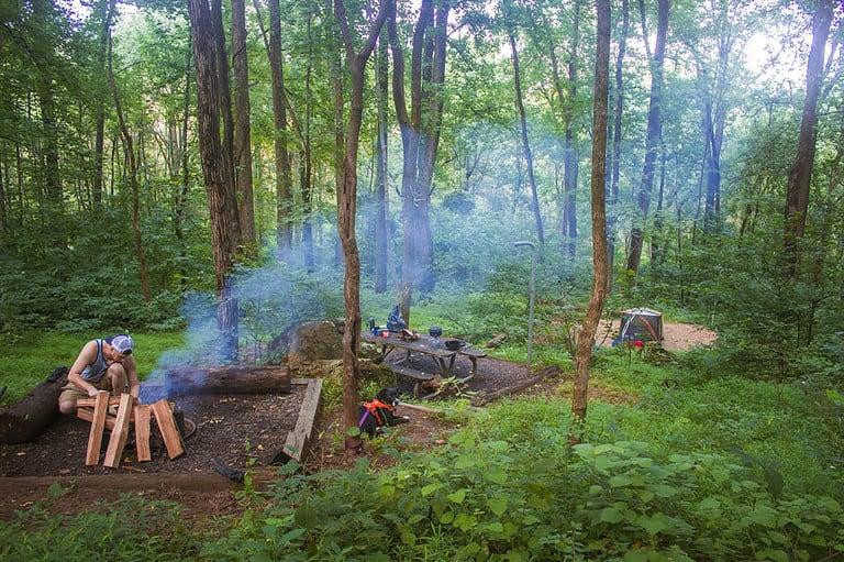 Camping Sky Meadows Virginia