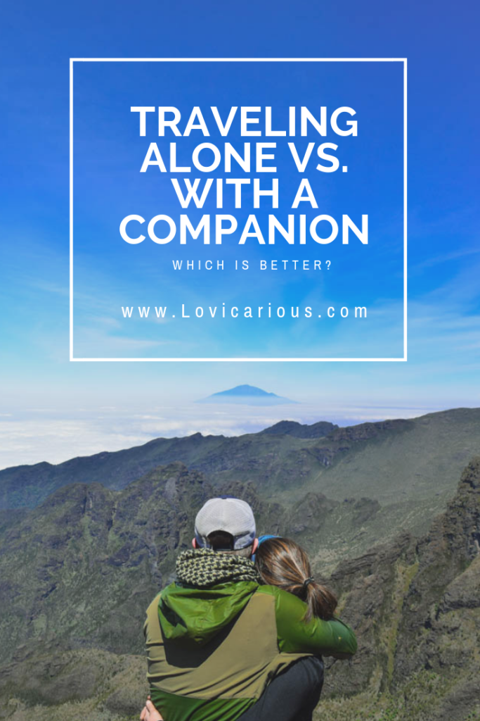 Traveling alone vs with a companion Pinterest