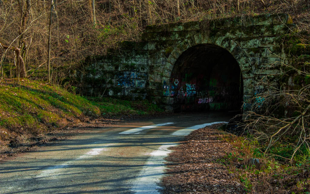 Haunted poor house tunnel adventures in Lexington Virginia