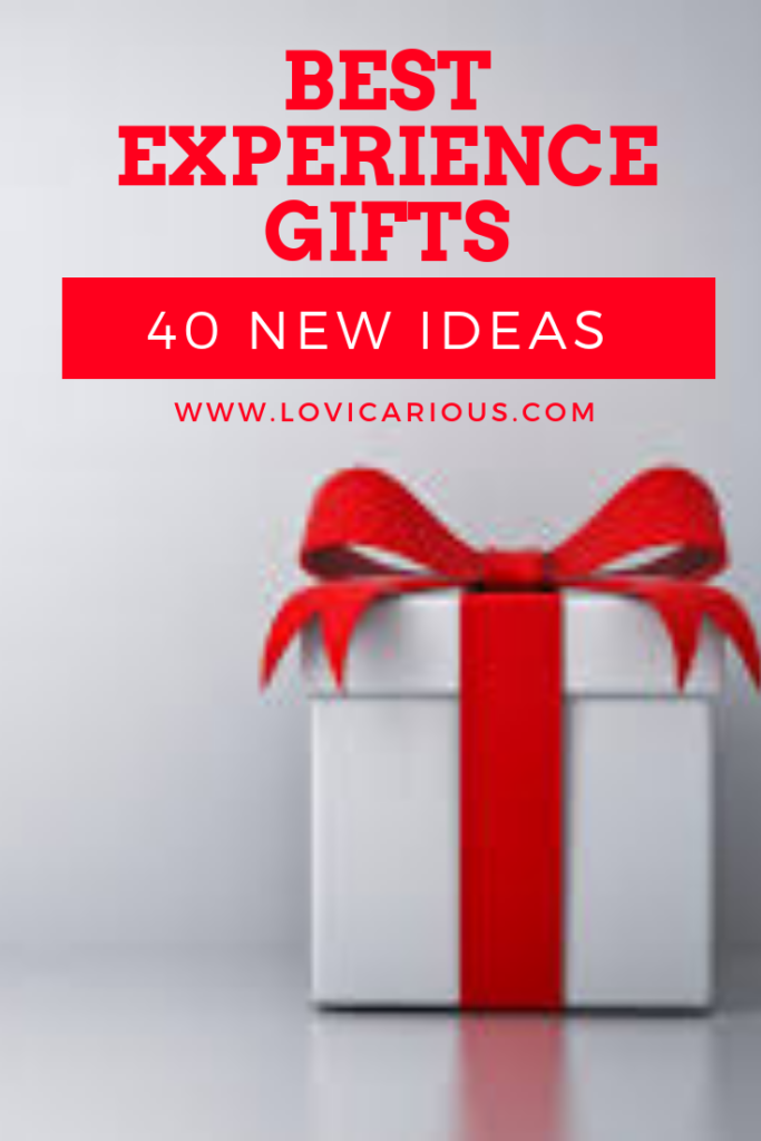 Ultimate Guide for giving an experience: 40 experience gift ideas #shopping #gifts #experiencegifts