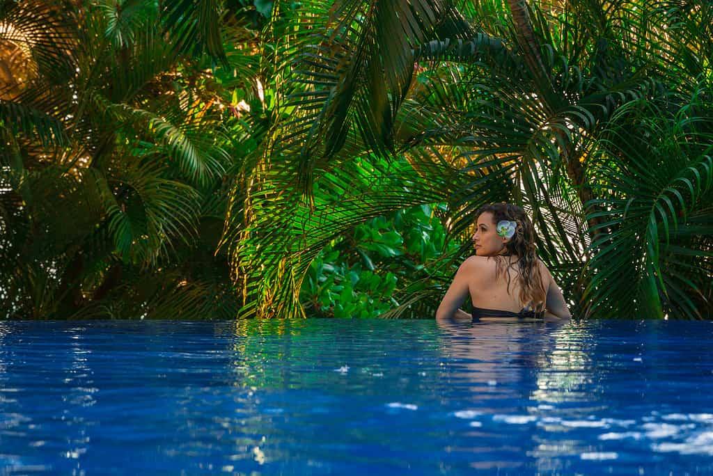 Infinity Pool Yoga at Villa Amor, Sayulita, Mexico
