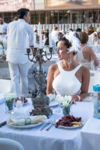 Dressed in white for Dinner en Blanc
