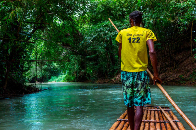 Bamboo Rafting down Jamaica's Martha Brae River