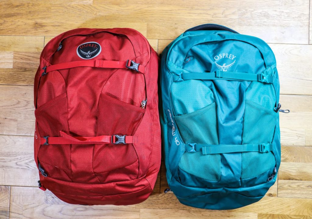 Best Adventure Travel Gear - Osprey Farpoint and Fairview