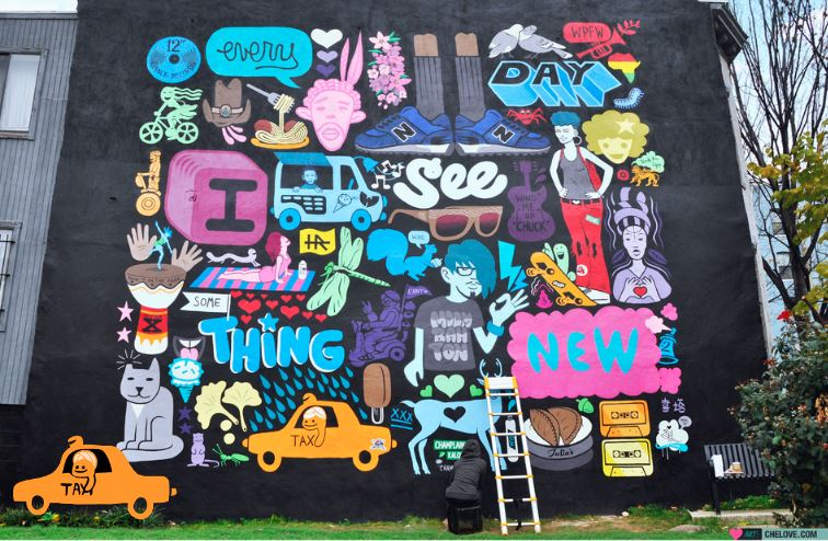 Every day I See Something New CHELOVE Washington DC mural