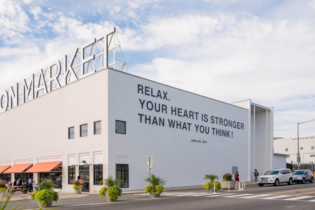 Relax You Heart is Stronger Than What you Think Yoko Ono mural