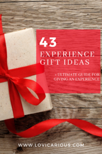 43 new experience gift ideas. Ultimate Guide.