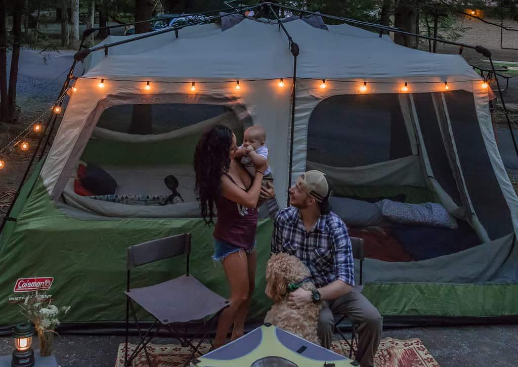 DIY glamping tent